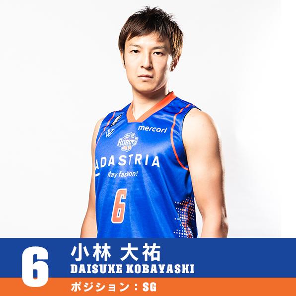 #6 小林 大祐 DAISUKE KOBAYASHI ポジション:SG
